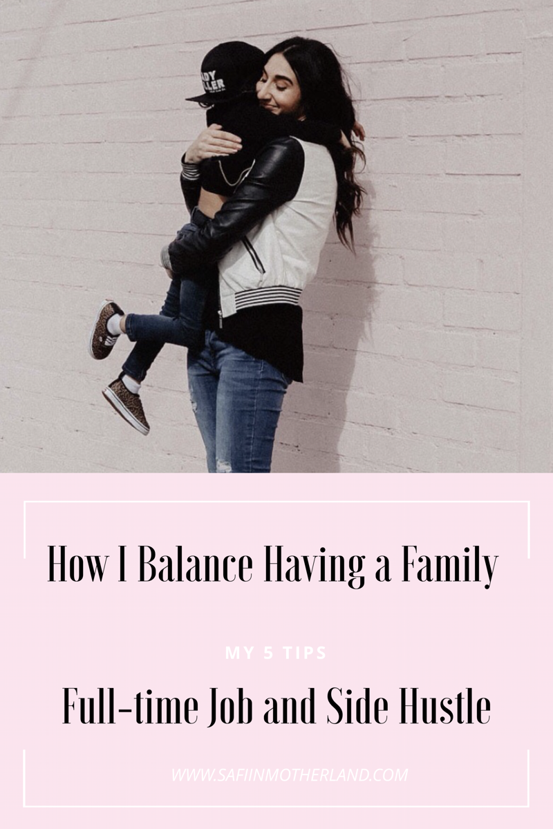 balancing a family and side hustle