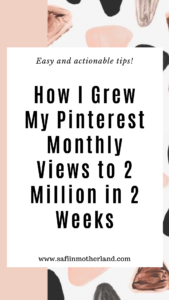 Pinterest monthly page views